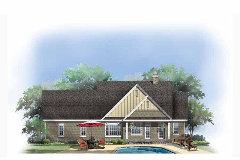 Craftsman Exterior - Rear Elevation Plan #929-879 - Houseplans.com