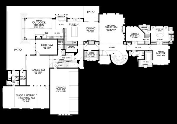 European Floor Plan - Main Floor Plan Plan #48-689