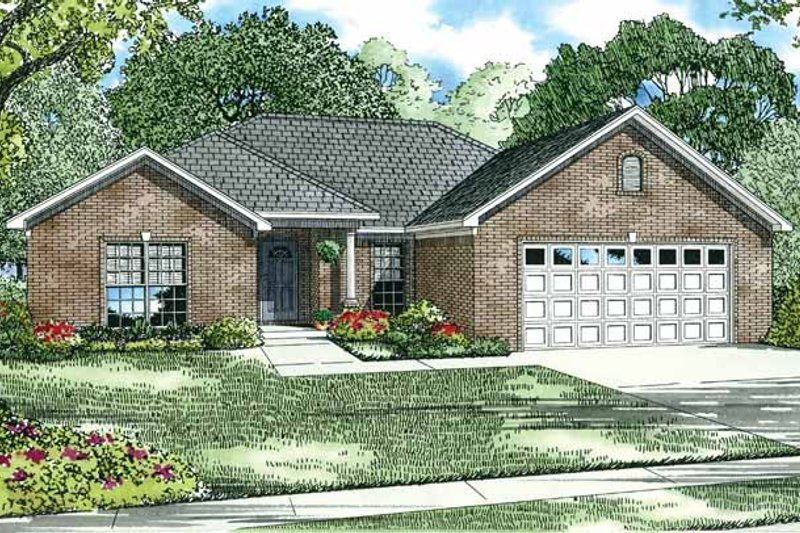 Dream House Plan - Ranch Exterior - Front Elevation Plan #17-2712