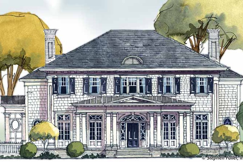 Colonial Exterior - Front Elevation Plan #429-352 - Houseplans.com