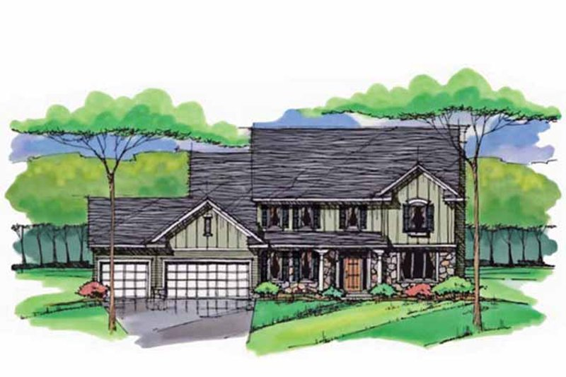 Colonial Exterior - Front Elevation Plan #51-1010