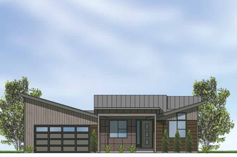 Contemporary Exterior - Front Elevation Plan #569-24 - Houseplans.com