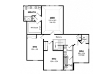 Colonial Floor Plan - Upper Floor Plan Plan #316-278