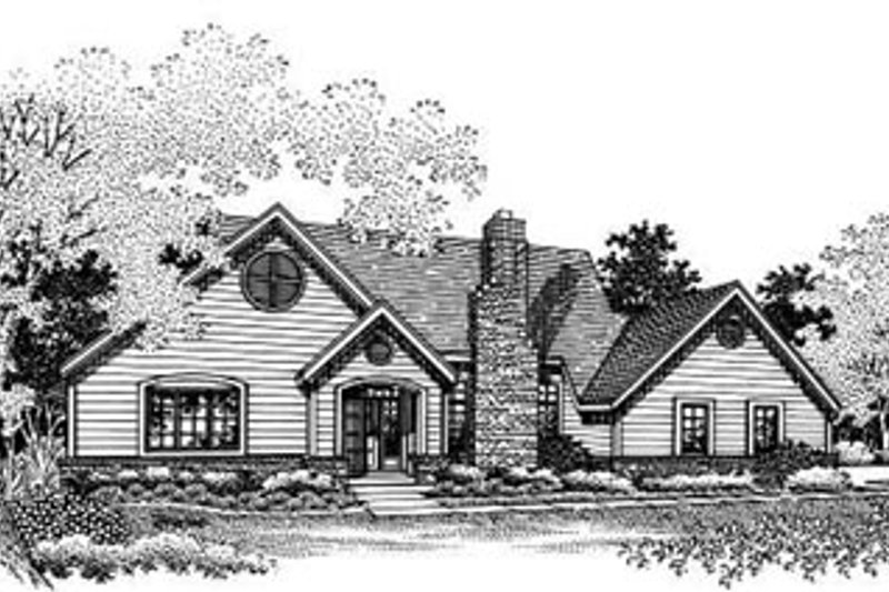Traditional Exterior - Other Elevation Plan #50-195 - Houseplans.com