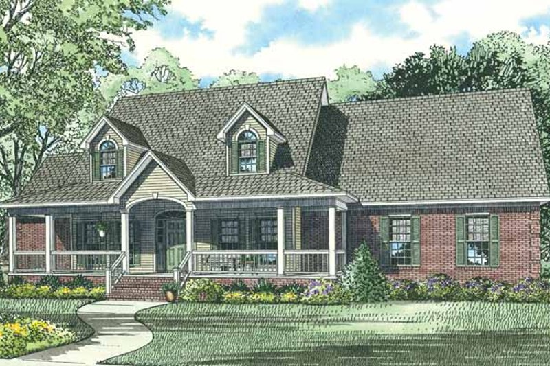 Architectural House Design - Country Exterior - Front Elevation Plan #17-2776