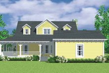 House Blueprint - Victorian Exterior - Rear Elevation Plan #72-1130