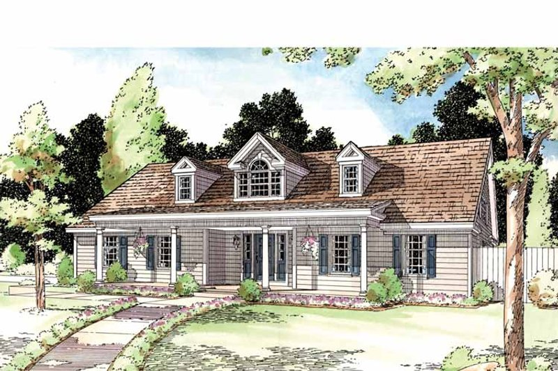 Country Exterior - Front Elevation Plan #1029-49 - Houseplans.com