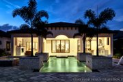 Mediterranean Style House Plan - 3 Beds 3.5 Baths 3433 Sq/Ft Plan #930-444 Exterior - Rear Elevation
