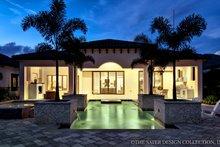 House Plan Design - Mediterranean Exterior - Rear Elevation Plan #930-444