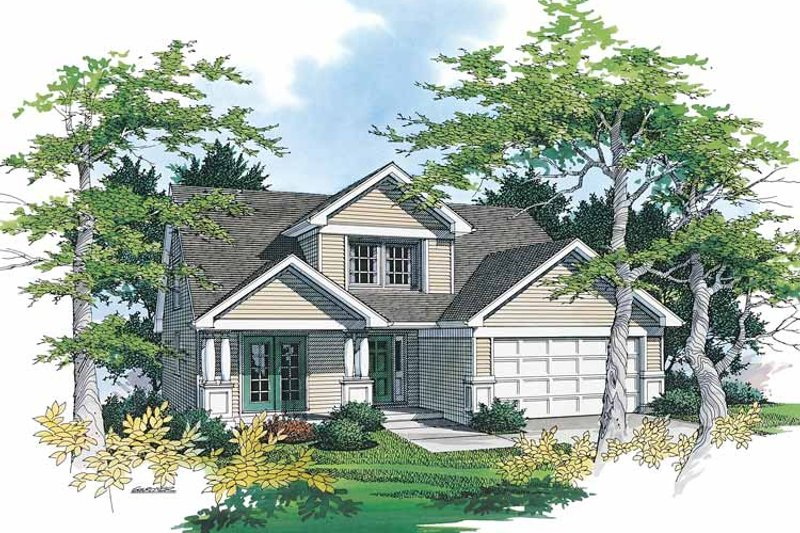 Bungalow Exterior - Front Elevation Plan #48-727