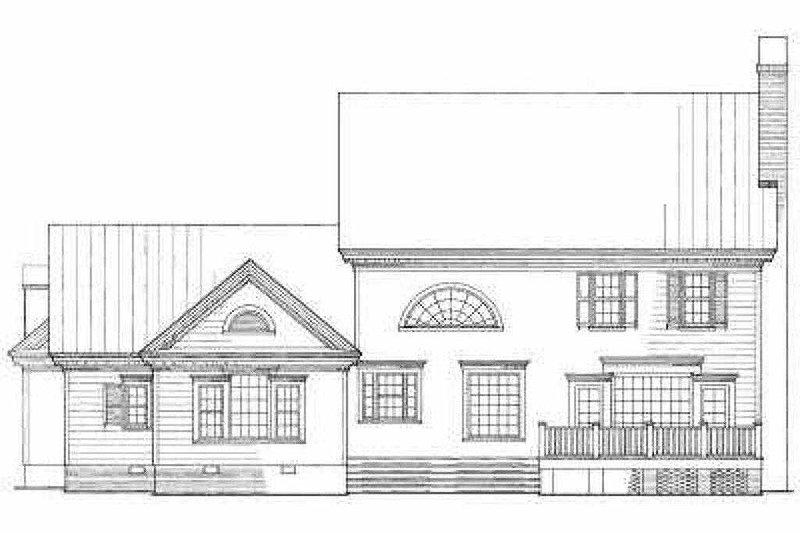 Farmhouse Exterior - Rear Elevation Plan #137-106 - Houseplans.com
