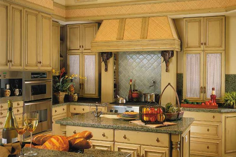 Mediterranean Interior - Kitchen Plan #930-311 - Houseplans.com
