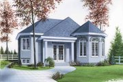 European Style House Plan - 2 Beds 1 Baths 1001 Sq/Ft Plan #23-2360 Exterior - Front Elevation