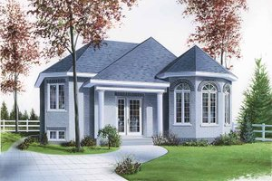 European Exterior - Front Elevation Plan #23-2360