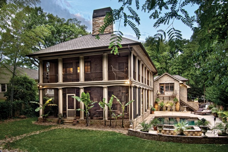 Mediterranean Exterior - Rear Elevation Plan #930-70 - Houseplans.com
