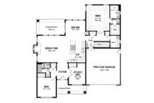Colonial Floor Plan - Main Floor Plan Plan #316-283