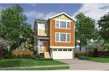Craftsman Exterior - Front Elevation Plan #132-558
