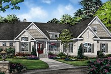 Ranch Exterior - Front Elevation Plan #929-1018