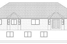 Dream House Plan - Ranch Exterior - Rear Elevation Plan #1060-35