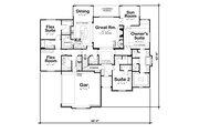 European Style House Plan - 3 Beds 3.5 Baths 2709 Sq/Ft Plan #20-2451