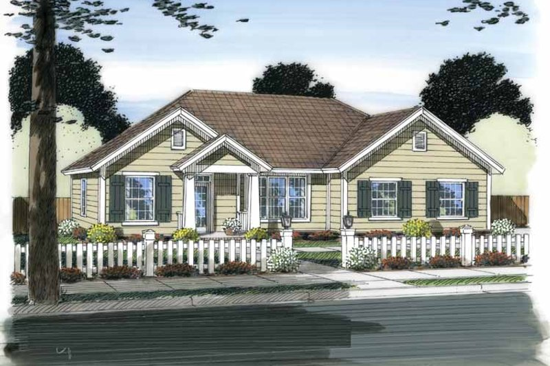 Traditional Exterior - Front Elevation Plan #513-2153 - Houseplans.com