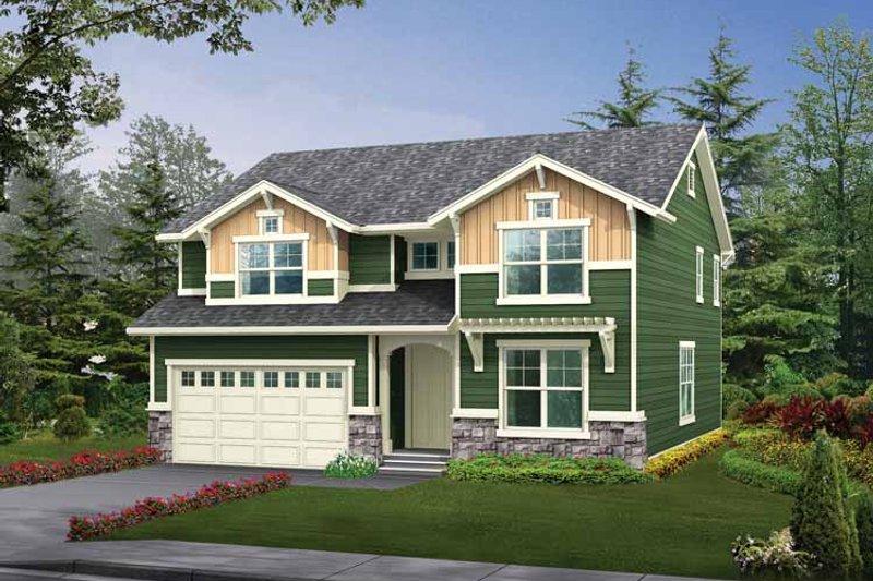 Craftsman Exterior - Front Elevation Plan #132-305
