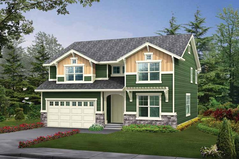 Architectural House Design - Craftsman Exterior - Front Elevation Plan #132-305