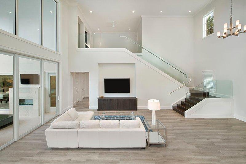 Mediterranean Interior - Family Room Plan #1017-159 - Houseplans.com