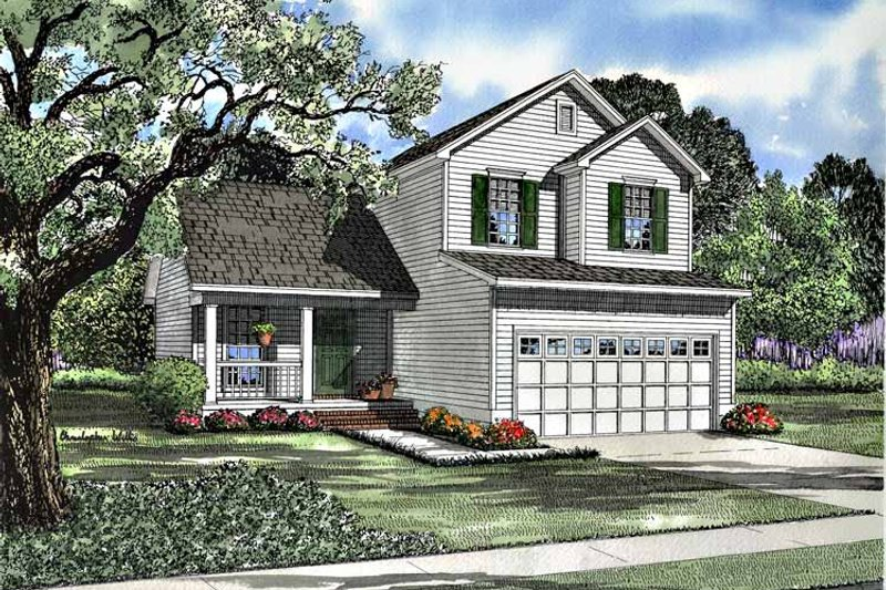 Country Exterior - Front Elevation Plan #17-2989