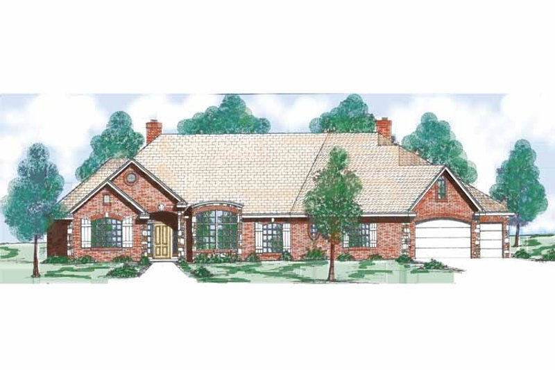 Traditional Exterior - Front Elevation Plan #52-266 - Houseplans.com
