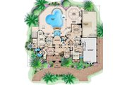 Mediterranean Style House Plan - 4 Beds 7 Baths 10662 Sq/Ft Plan #27-473 Floor Plan - Main Floor