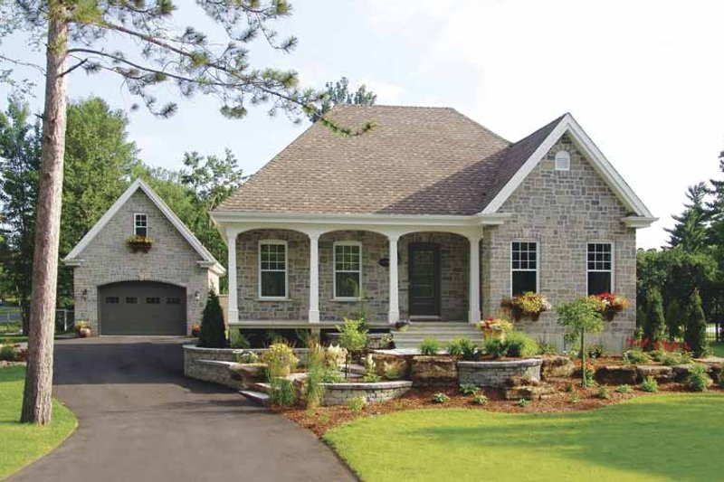 Country Exterior - Front Elevation Plan #23-2330 - Houseplans.com