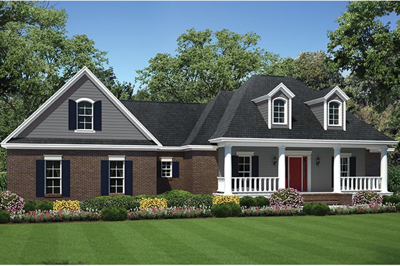 Ranch Exterior - Front Elevation Plan #21-437 - Houseplans.com