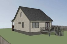 House Design - Cottage Exterior - Rear Elevation Plan #79-141