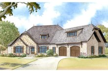 Home Plan - Country Exterior - Front Elevation Plan #17-3371