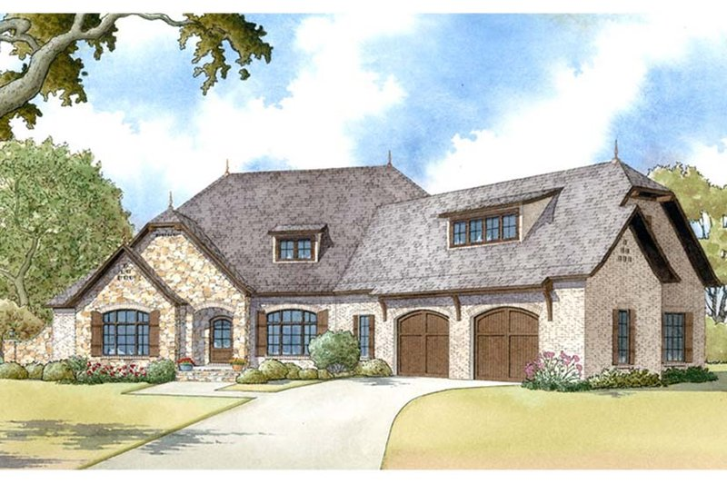 Architectural House Design - Country Exterior - Front Elevation Plan #17-3371
