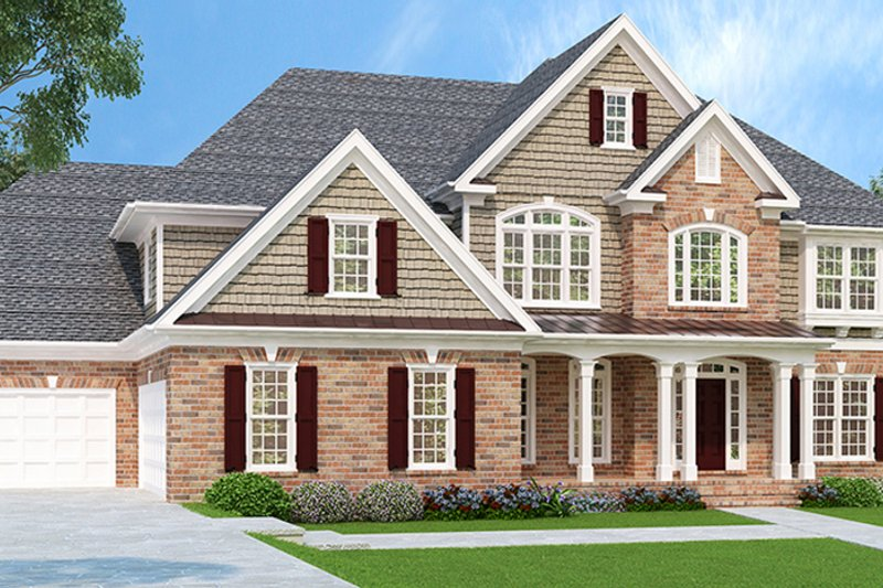 Traditional Exterior - Front Elevation Plan #927-756 - Houseplans.com