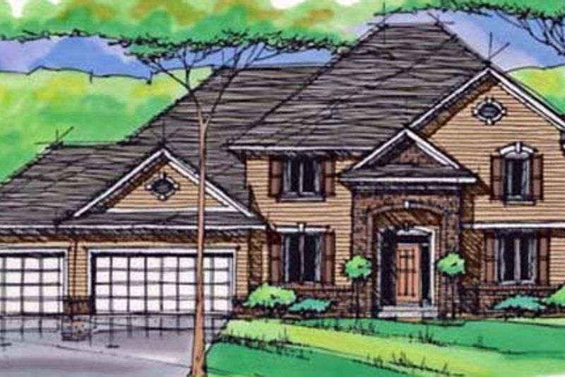 Traditional Exterior - Front Elevation Plan #51-410