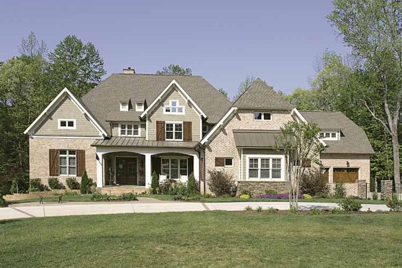 Dream House Plan - European Exterior - Front Elevation Plan #453-605