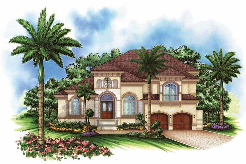 House Design - Mediterranean Exterior - Front Elevation Plan #1017-101