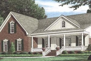 Architectural House Design - Traditional Exterior - Front Elevation Plan #34-142