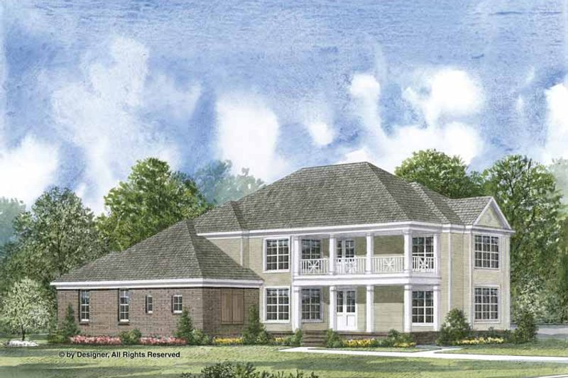 Colonial Exterior - Front Elevation Plan #952-201