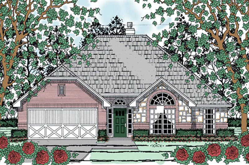 Traditional Exterior - Front Elevation Plan #42-718 - Houseplans.com