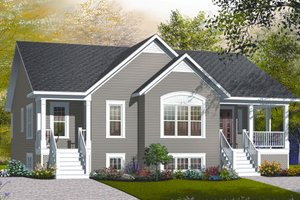 Farmhouse Exterior - Front Elevation Plan #23-2195