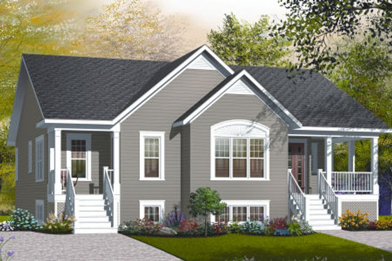 Farmhouse Style House Plan - 3 Beds 2 Baths 1741 Sq/Ft Plan #23-2195 Exterior - Front Elevation