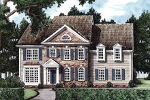 House Plan Design - Classical Exterior - Front Elevation Plan #927-595