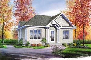 Cottage Exterior - Front Elevation Plan #23-115