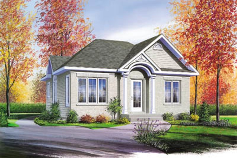 Cottage Style House Plan - 2 Beds 1 Baths 832 Sq/Ft Plan #23-115 Exterior - Front Elevation