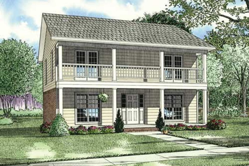 Southern Exterior - Front Elevation Plan #17-2270