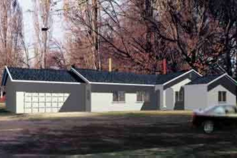 Traditional Style House Plan - 4 Beds 2 Baths 1854 Sq/Ft Plan #1-707 Exterior - Front Elevation